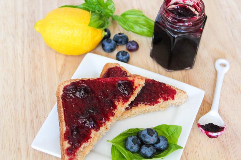 Blueberry Lemon Basil Jam