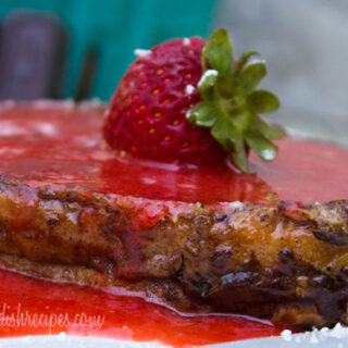 Chocolate French Toast with Fresh Strawberry Sauce
