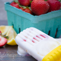 Strawberry Lemon Yogurt Popsicles