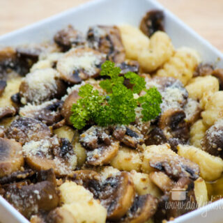 Gnocci and Mushrooms in a Brown Butter Sauce