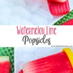 Real Fruit Watermelon Lime Popsicles