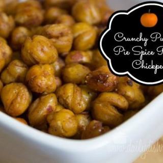 Crunchy Pumpkin Pie Spice Roasted Chickpeas