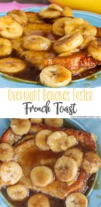 It's like dessert for breakfast... delicious vanilla flavor, bananas, and a smooth, buttery brown sugar sauce all tied into these decadent Overnight Bananas Foster French Toast.