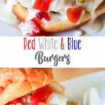 Red White and Blue Burgers
