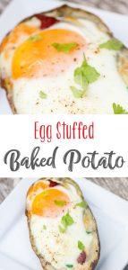 Egg Stuffed Baked Potato Skins