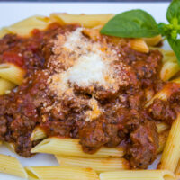 Venison Spicy Pasta