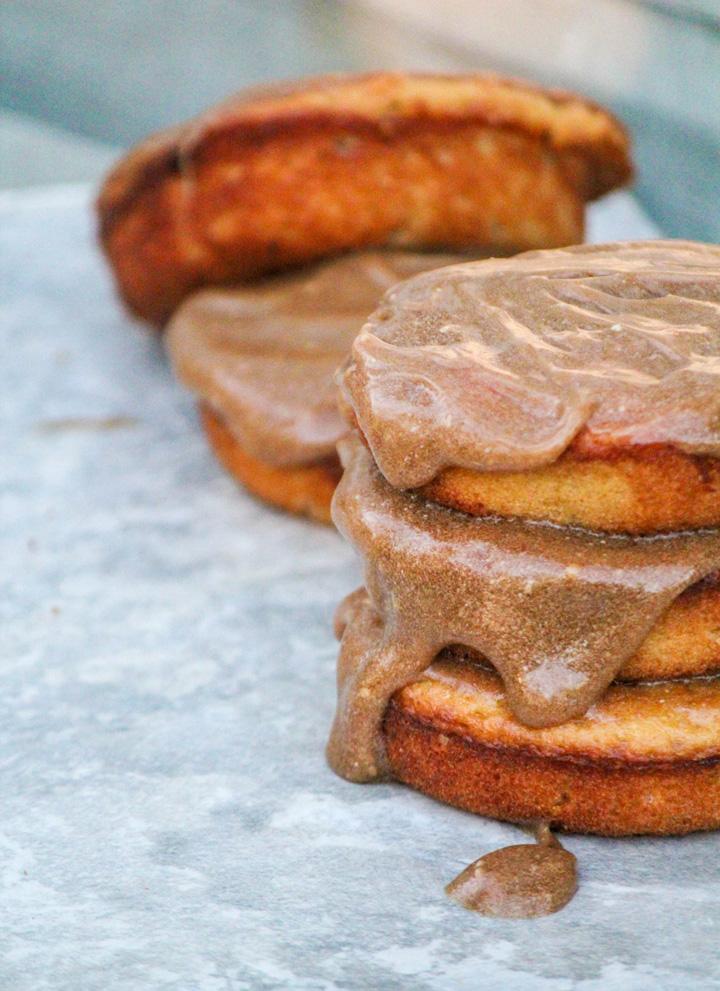 Baked Caramel Apple Cider Donuts
