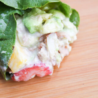 Fruit and Tuna Lettuce Wrap