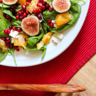 Pomegranate Orange Spinach Salad