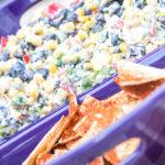 Potluck Corn Black Bean and Cilantro Salsa Dip for a Crowd