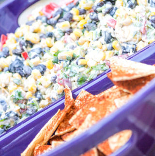Potluck Corn Black Bean and Cilantro Salsa Dip for a Crowd