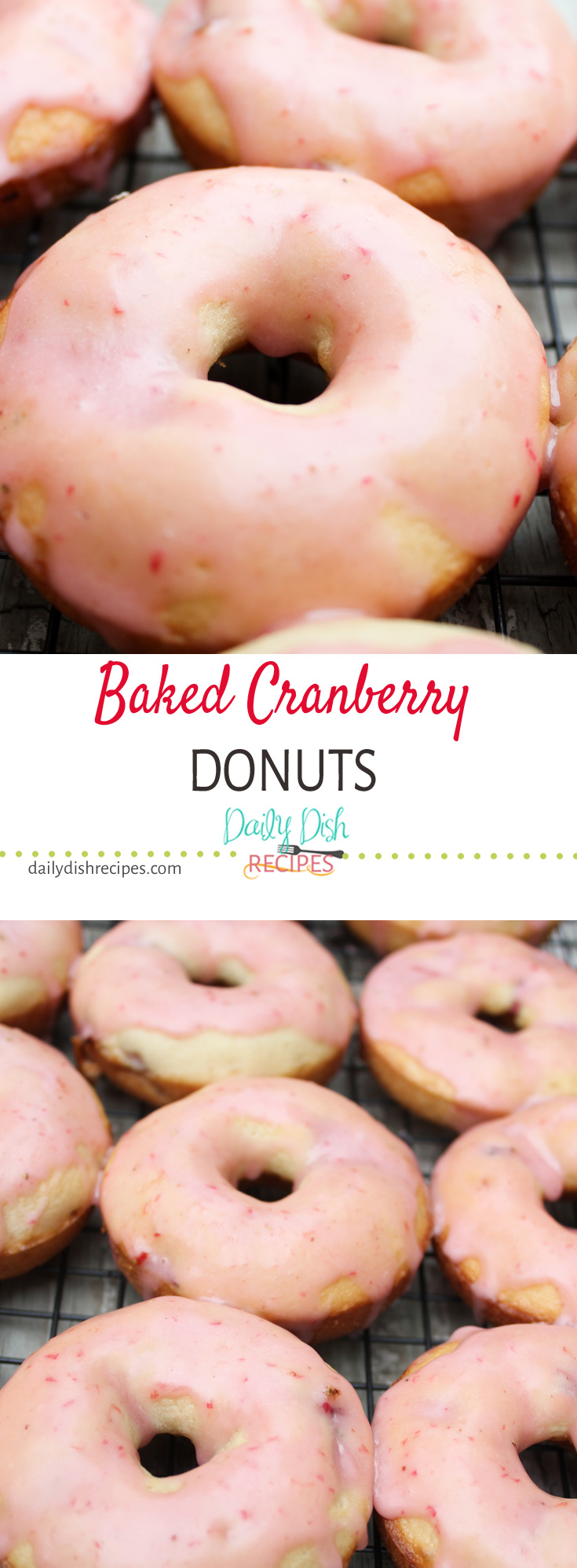 Baked Cranberry Donuts Pinterest