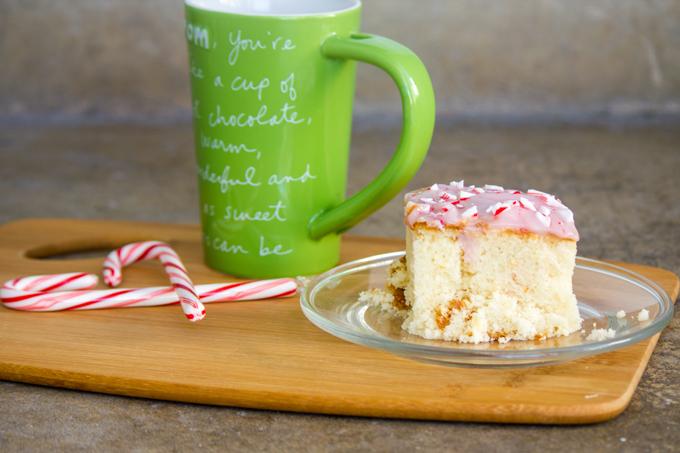 Candy Cane Poke Cake 2