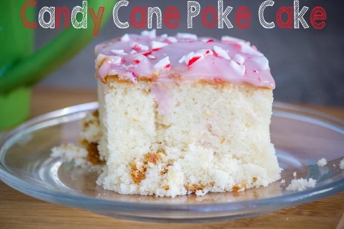 Candy Cane Poke Cake Title