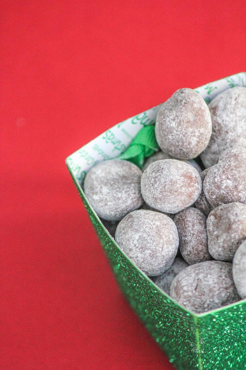 Dark Chocolate Peanut Butter Macadamia Truffles