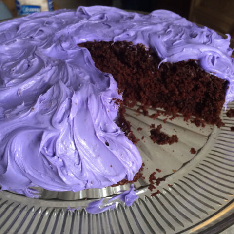 Moist Dark Chocolate Lavender Cake