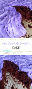 Dark Chocolate Lavender Cake with Lavender Buttercream Frosting