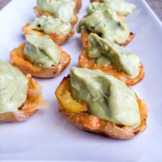 Skinny Game Day Guacamole Potato Skins