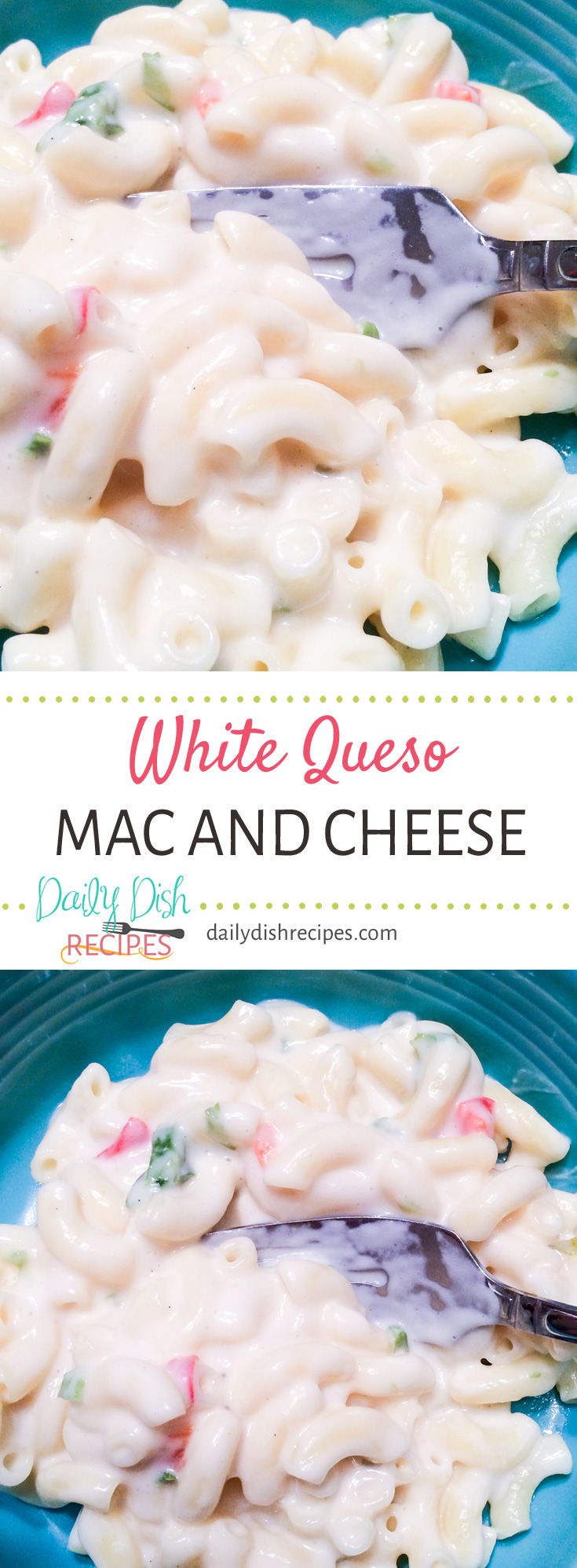 White Queso Mac and Cheese