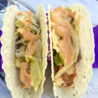 Fish Tacos with Chipotle Ranch Sauce