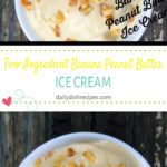 Two Ingredient Banana Peanut Butter No Churn Ice Cream
