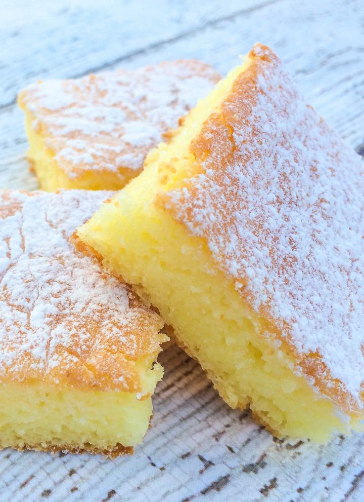 Two Ingredient Lemon Cake Bars