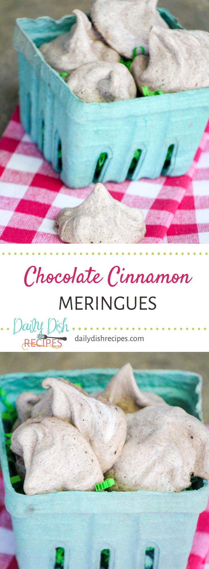Chocolate Cinnamon Meringues To Die For!