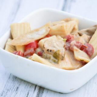 Easy Southwestern Grilled Chicken Fajitas Pasta