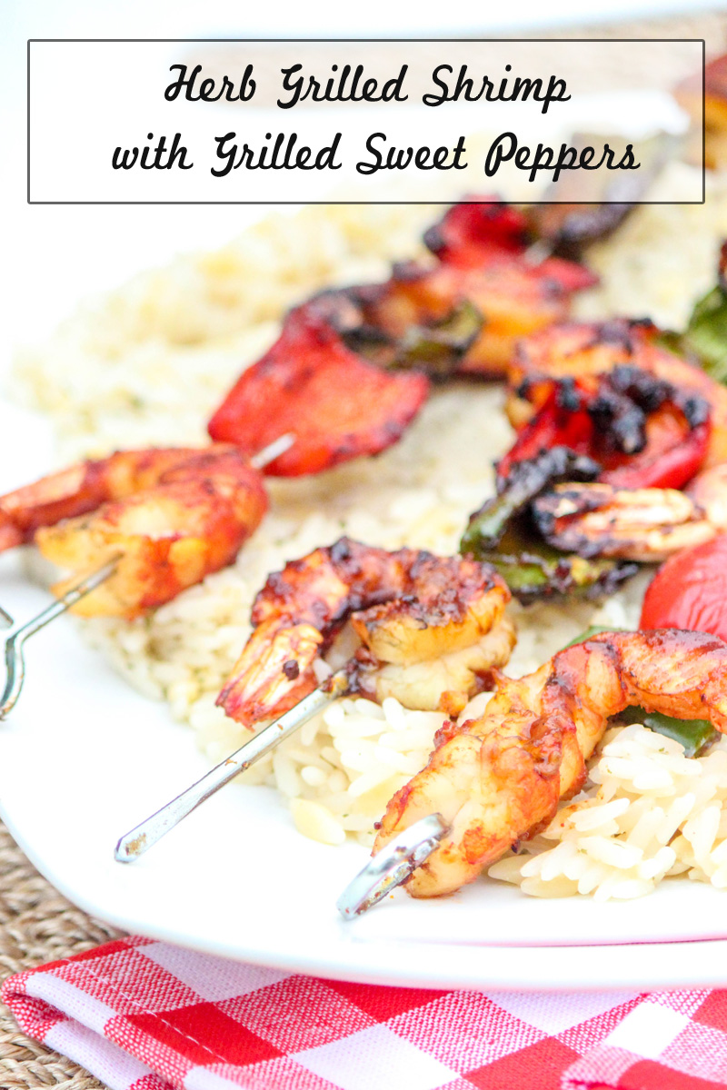Herb Grilled Shrimp with Grilled Sweet Peppers