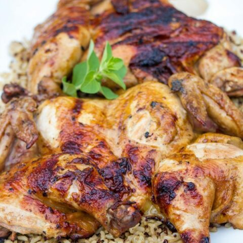 Garlic Soy Grilled Spatchcocked Chicken