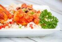 Basil Tomato Butter Chicken