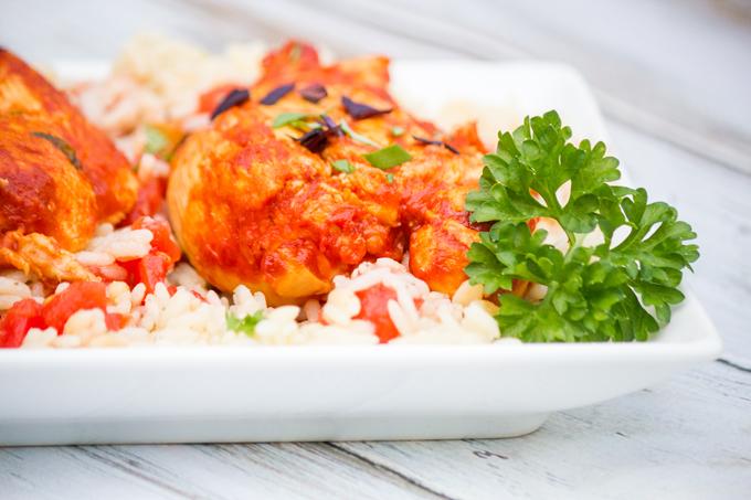 Basil Tomato Butter Chicken
