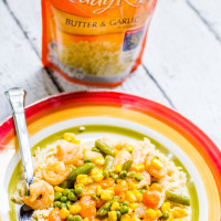 Uncle Bens Garlic Rice Shrimp and Veggies