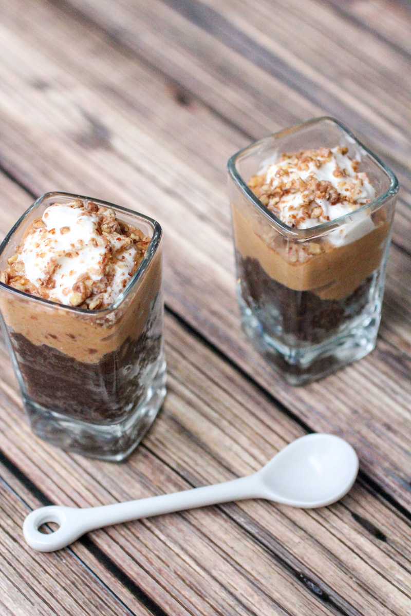 Chocolate Pumpkin Mini Trifles