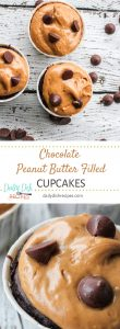 Chocolate Peanut Butter Filled Cupcakes