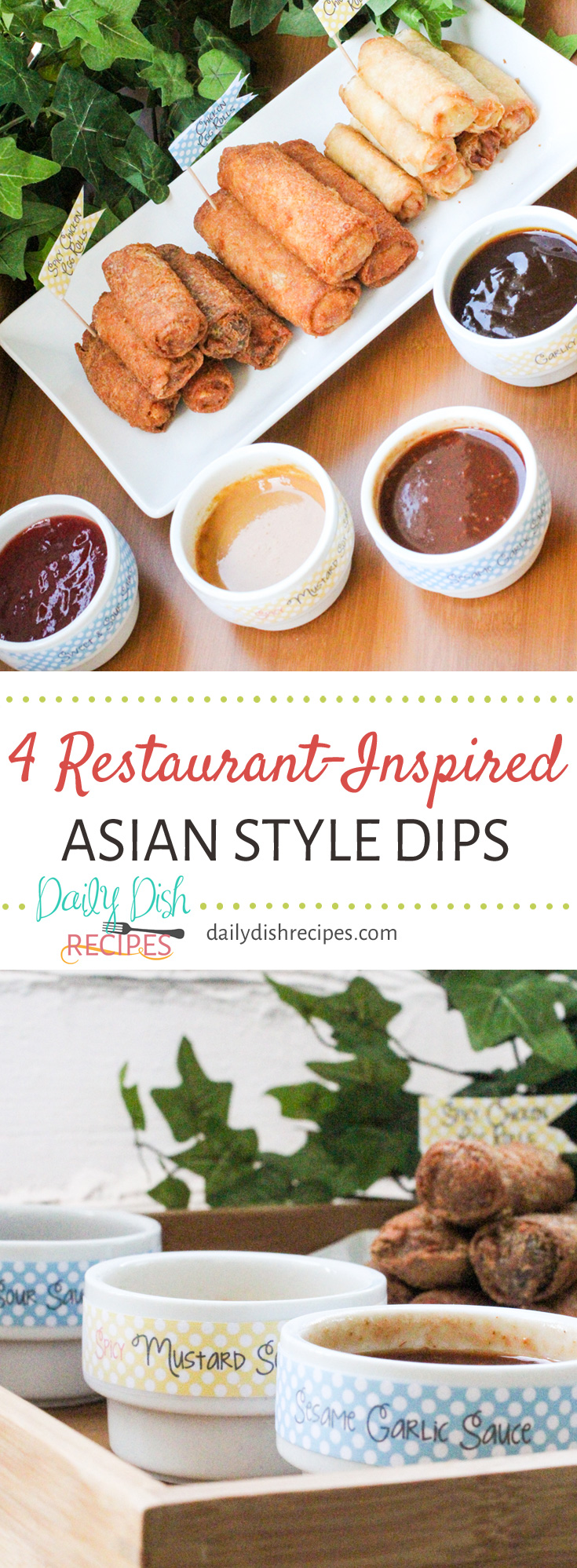 I love to dip. Do you love to dip? These 4 Restaurant-Inspired Asian Style Dipping Sauces make dipping fun and there's a dipping sauce for every palate. Which one will you choose?
