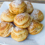 Reese's Banana Peanut Butter Chocolate Stuffed Ebelskivers (Danish Pancakes)