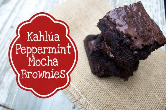 Kahlua Peppermint Mocha Brownies