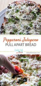 Pepperoni Jalapeno Pull Apart Bread