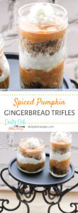 Spiced Pumpkin Gingerbread Triffles
