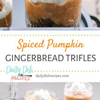 Spiced Pumpkin Gingerbread Triffles