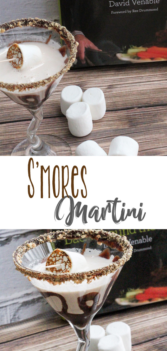 Sweet S'mores Martini is creamy, delicious and so much fun to make and serve. Rim the glass with chocolate and graham crackers, and roast a marshmallow for the garnish on the cocktail. YUM!