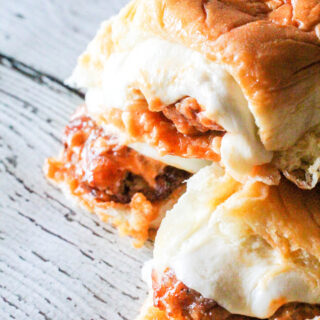 Buffalo Hot Wing Chicken Sliders