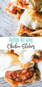 Buffalo Hot Wing Chicken Sliders