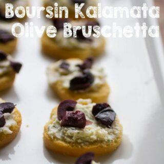 Boursin Kalamata Olive Bruschetta