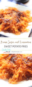 Brown Sugar and Cinnamon Sweet Potato Fries