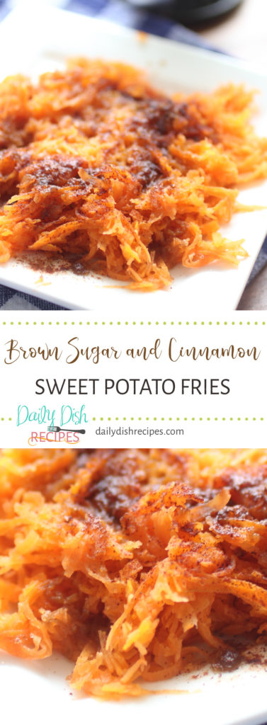 Brown Sugar and Cinnamon Sweet Potato Fries