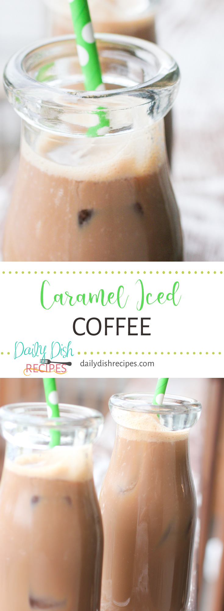 Want your gourmet coffee but don't want to spend alot of cash? This Caramel Iced Coffee is creamy, cold and delicious - just as good if not better than your local coffee shop & can be made right in your kitchen!