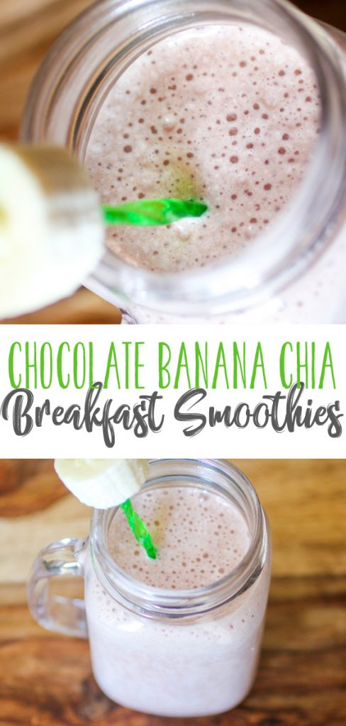 Chocolate Banana Chia Breakfast Smoothies