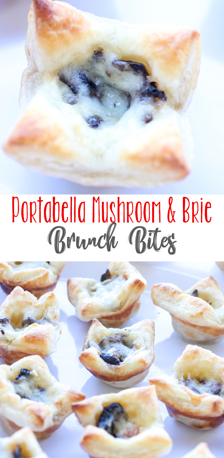 Portabella Mushroom and Brie Brunch Bites